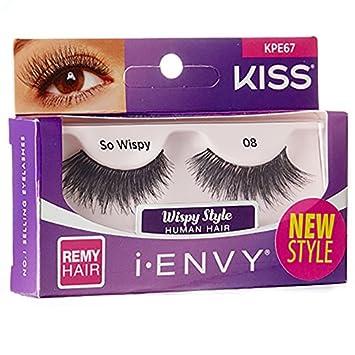 3672b1056fa Amazon.com : i ENVY by Kiss Strip Eyelashes KPE67 So Wispy 08 (3 Pack) :  Beauty