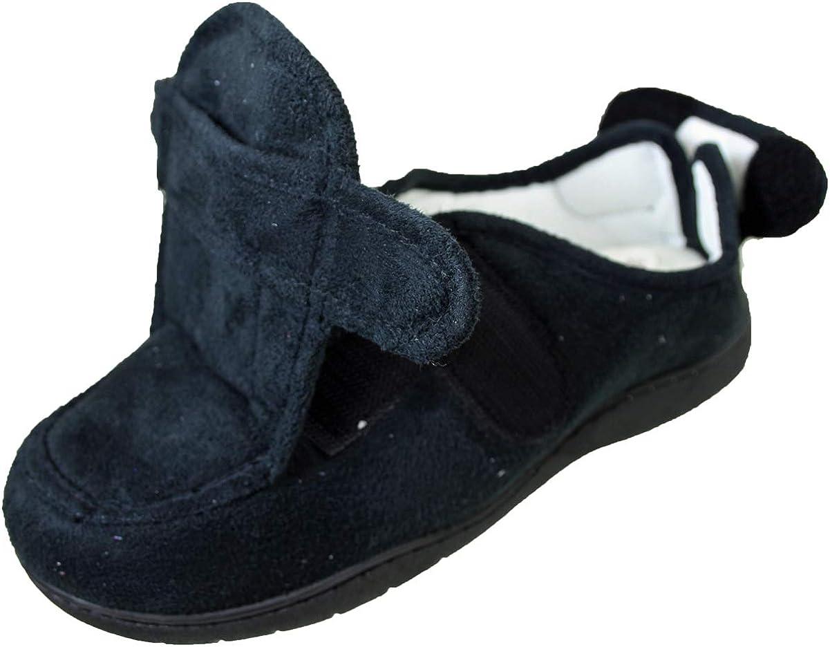 Mens Ladies Slippers E-EEE Wide Fit
