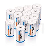 iEGrow D Batteries 11000mAh Ni-MH Rechargeable(12-Pack)