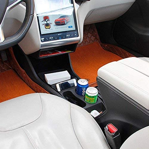 Topfit Silicone Centre Console Container Organizer Armrest Storage Box for Model S 2012-2015