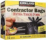 Kirkland Signature Contractor Bags Smart Tie, 3 ml- 42 gal - 32 ct