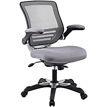 Superieur Modway Edge Mesh Back And Gray Mesh Seat Office Chair With Flip Up Arms