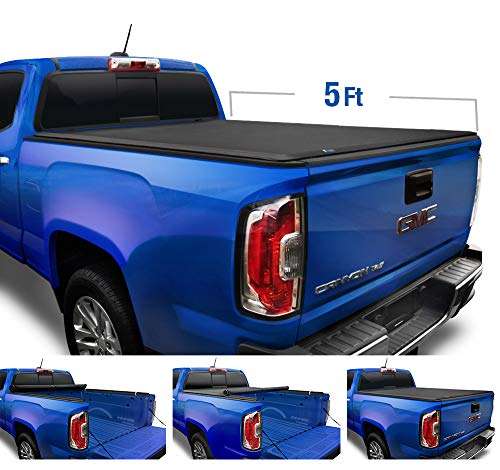 Tyger Auto T1 Roll Up Truck Tonneau Cover TG-BC1C9052 Works with 2019 Chevy Colorado/GMC Canyon | Fleetside 5' Bed