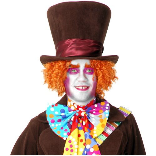 Electric Mad Hatter Orange Hat (Electric Mad Hatter Hat Costume Accessory)