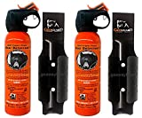UDAP Safety Orange Bear Spray with Griz Guard Holster 2 Pack