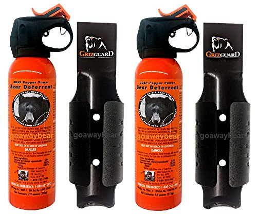 UDAP Safety Orange Bear Spray with Griz Guard Holster 2 Pack by Udap (Image #4)
