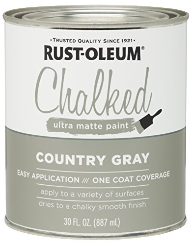 - Rust-Oleum 285141 Ultra Matte Interior Chalked Paint 30 oz,  Country Gray