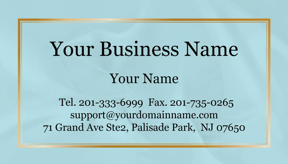 Custom Business Cards 500pcs- Modern Teal Image-16pt cover (129 lbs. 350gsm-Thick paper),Offset Printing, Made in The USA by IMPACTONLINEPRINTING (Image #3)