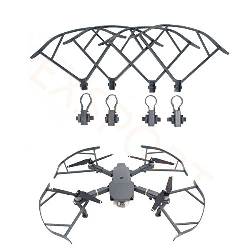 EXSPORT 4PCS Quick Release Propeller Guards For DJI Mavic Pro Drone Bumper Protectors, No Obstacle Avoidance Interference