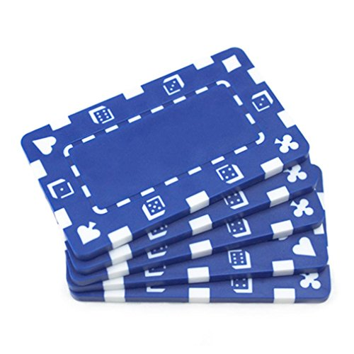 Brybelly Holdings PCB-2102 5 Blue Rectangular Poker Chips from Brybelly Holdings