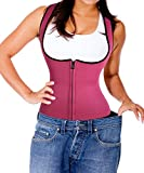 Waist Cincher Corset hot Sweat Shaper Belt for Women Shapewear Maternity Supports Underwear Underbust Corset Postpartum Recovery Support wrap Trainer Band Firm Compression Fashion (L, Rosy)