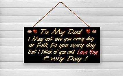 Amazon.com: enid545anne Dad madera signos, regalo para padre ...