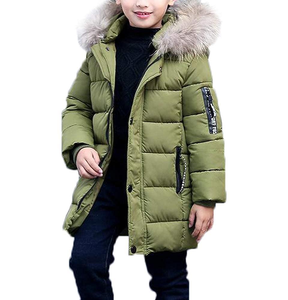 SMITHROAD Jungen Mantel Jacket Parka Kinder Jungen Mantel Winter Baumwolle Kindermantel Langarm Outwear Wintermantel mit Kapuze Winterjacke Steppjcake Coat