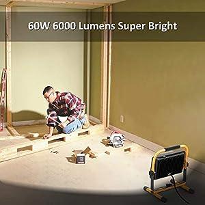 60W LED Work Light 6000lm, Nov...