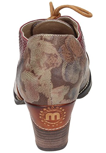Manitu Manitu Damen Schnürer - Zapatos de cordones de Piel para mujer marrón marrón marrón