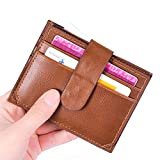 GzxtLTX PU Leather Wallet Credit Card Holder Zipper Coin Purse with ID Window for Women Men