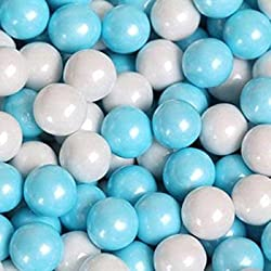 Sweetworks Shimmer Powder Blue & White Sixlets 1 lb Bag