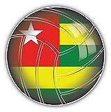 Togo Volleyball World Flag Art Decor Bumper Sticker 5'' x 5''