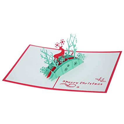 Diamond Cartoon Mini Papá Noel Feliz Navidad Papel Artesanía Postales WOZOW
