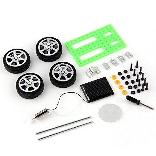 NotingBuss 1 Set Mini Solar Powered Toy DIY Car Kit Children Educational Gadget Hobby Funny Kids Toys Gift ()