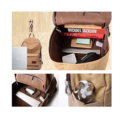 Men's Multipurpose Bags Computer Canvas Computer Bag Bag Bag D Backpack School E rqwqF5