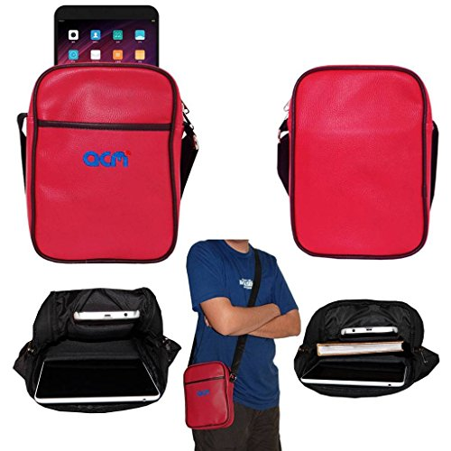 Acm Soft Padded Shoulder Sling Bag Compatible with Xiaomi Mi Pad 3 Carrying Case Dark Pink