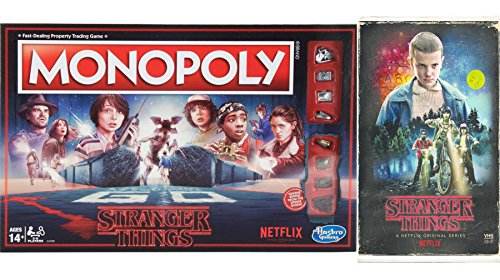 (Stranger Things Game Series Exclusive VHS Set Season 1 DVD Blu-Ray 4 Disc Box Monopoly Special Edition 2-Pack Combo Bundle)