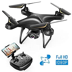 SNAPTAIN SP650 1080P Drone with Camera for Adults 1080P HD Live Video Camera Drone for Beginners w/Voice Control…