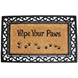 Funny Doormat Coir & Rubber Non-Slip Outdoor Mat Wipe Your Paws Deal