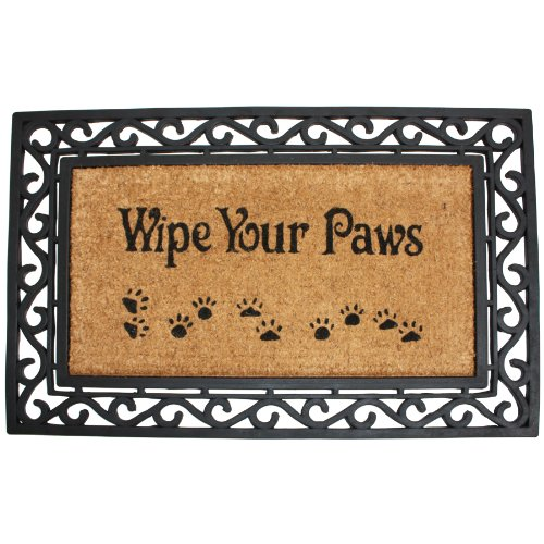 J & M Home Fashions Heavy Wipe Your Paws Natural Coir and Ru