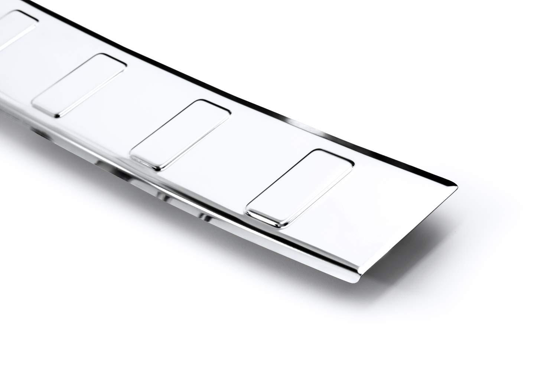 teileplus24 L616 Ladekantenschutz aus V2A Edelstahl mit Abkantung Farbe:Silber gl/änzend
