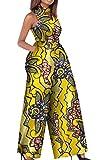WSPLYSPJY Women's African Wax Fabric Classy Fine Cotton Playsuit Jumpsuits 8 XXS