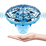 Flying Toys for Kids, Hand Operated Drones for Kids & Adults, Hands Free Mini Drones with 5 Sensors and 2 Speed, Indoor Flying Ball Toys Gifts for 6 7 8 9 10 Years Old Boys & Girls(Blue
