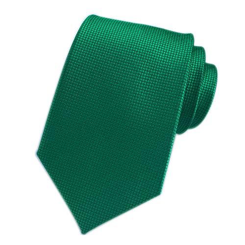 Men's Hunter Green Silk Cravat Woven Tie Texture Textile Business Casual Necktie