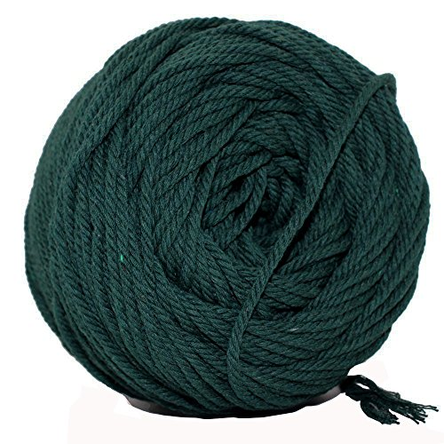 Green Macrame Cord Natural Cotton Macrame Rope Cord Twisted Cord Macrame Supplies 3mm for Macrame Wall Hanging Plant Hanger Craft Making Knitting Green