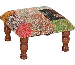 Theshopy Wooden Stool with Upholstery Sitting #A628