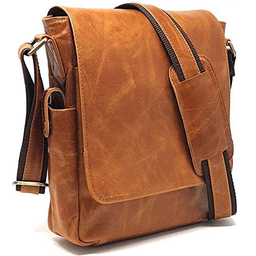 Relic Jean - Purple RELIC: 11-inch Leather Man Bag ~ Tablet Messenger Satchel ~ Sling City Flapover Bag