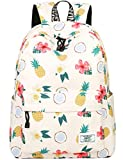 School Bookbags for Girls, Cute casual lightweight Pineapple Backpack College Bags Women Daypack Travel Bag by Mygreen (Beige)