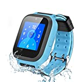 Kids GPS Watch, Enow IP67 Waterproof GPS/LBS Tracker Phone Smart Watch for Children Girls Boys with SOS Call/Camera/Touch Screen/Game/Alarm/Voice Chat, Christmas Birthday Gift(SIM Card Included)