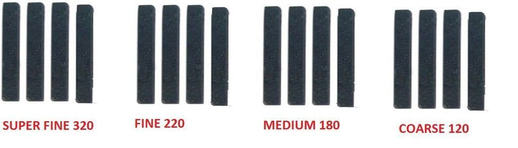 OMEX New Cylinder Engine Hone Stone Set For 34-60 - Super Fine, Fine, Medium, Coarse