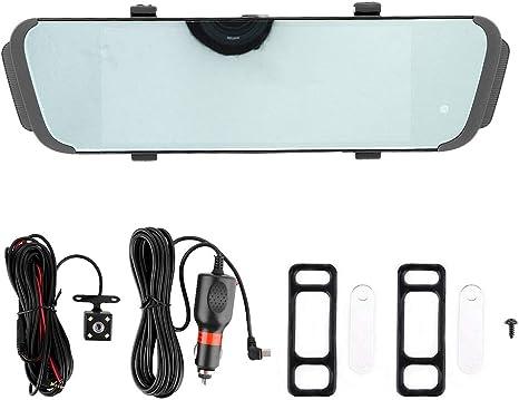KIMISS 7 pouces Cam/éra Dash Voiture DVR Double Cam/éra Dashcam Avant Arri/ère,Enregistreur Vid/éo de Voiture /à /écran Tactile Sens Inverse R/étroviseur