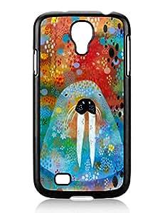 Individualization I Am the Walrus Cute Samsung Galaxy S4 I9500 TPU Black Phone Case