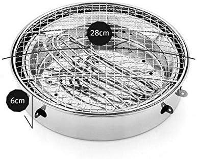 Grill Portatile Acciaio Inossidabile 410 Addensato Pieghevole Barbecue Carbone, per BBQ All'aperto Giardino Terrazza Campeggio Picnic Utensile BBQ Grill(28 * 22Cm)