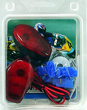 TopZone YNSK-TS03B Turn Signal Suzuki Gsxr 600 //750 01-05 00-05 ;1000 01-04 Flush Mount Blue,1 Pack