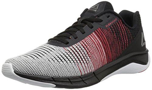 Reebok Men's Fast Flexweave Running Shoe, White/Primal Red/Black, 12 M (Black White Red Shoes)