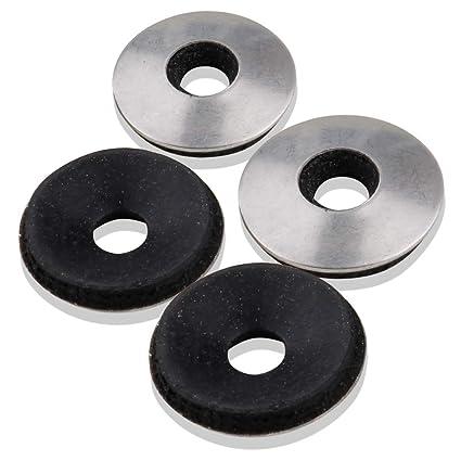 Amazon.com: Arandelas planas de acero inoxidable 18-8 (304 ...