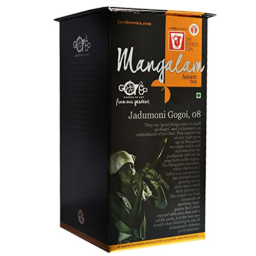 Assam Tea Whole Leaf, Delicate Aroma, Orthodox, Black Tea from Mangalam Estate - 3.5 oz by Jay Shree Tea