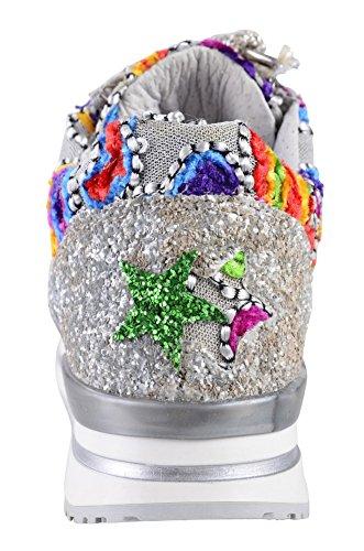 Gold Rouge Violet 35 femmes 2Star Perlé Bleu Sneaker Argent pour Chaussures U1dP7wZqP