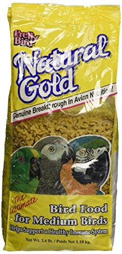 Pretty Bird Natural Gold Medium Bird Food, 2.6 Lb.
