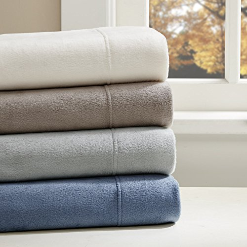 Liquid Velvet Fleece Sheet Set Ivory Twin (Ivory Fleece Sheet Set)